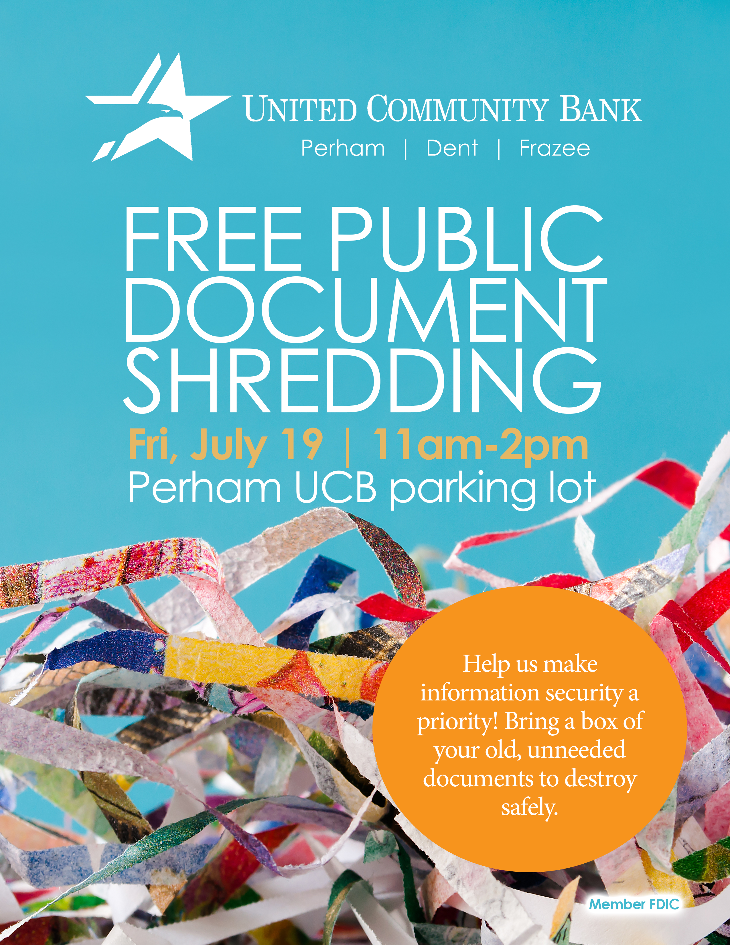Shred Day Poster - Perham Area Chamber of Commerce